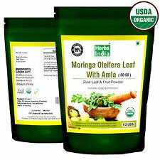 Moringa Leaf and Amla Fruit Powder in 50:50 ratio, USDA Organic - 8 Oz (1/2 lb)
