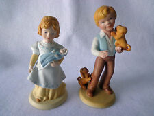 """AVON FIGURINES """" A MOTHER'S LOVE"""" and """" BEST FRIENDS"""" FROM 1981 - HANDCRAFTED"""
