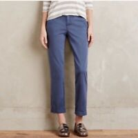 Pilcro and the Letterpress Anthropologie Hyphen Relaxed Chino Pants Blue Sz 28P