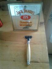 Jack Daniels barrel wood Hand turned Gillette mach 3 Shaving Razor