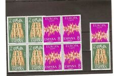 Sellos de ESpaña Año 1972 . Europa sellos nuevos** Bloque de 4 + 1