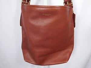 COACH AUTHENTIC Brown Legacy Leather Large Duffle Handbag ($825)