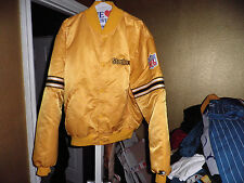 Vintage Pittsburgh Steelers Throwback Satin Starter Jacket xxl 2xl Rare! Yellow
