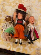 """Great Lot of Dolls Including Celluloid for Doll House 5"""" Tall"""