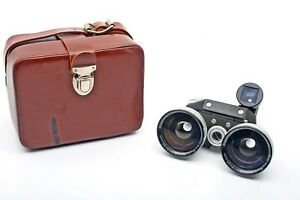 Stereo Realist Steinheil Stereo-Redufocus 25mm Wide Angle lens set+Case+UnCommon