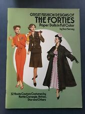 Great Fashion Designs of the Forties Paper Dolls Tom Tierneyy