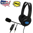 Gaming Headset Wired Stereo Bass Surround for PS4 Xbox One PC with Mic New