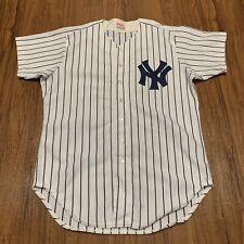 Vintage Wilson NY Yankees White Pin Stripes baseball MLB jersey Size 46 XL 1980s