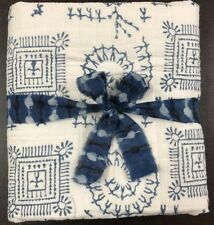 Hand Blocked Print Baby Quilt Cotton Blanket Throw Ethnic Handmade Crib Quilt