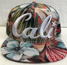 Cali Floral Hat California Embroidered Baseball Cap Headlines Tropical