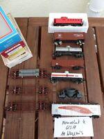 Walthers,Mantua,Accurail,etc. Konvolut 10 x US Güterwagen USA 10 Wagen in OVP,US