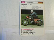 74-MOTORRADER 8A ZUNDAPP KS50 50 CC ZÜNDAPP  QUARTETT CARD