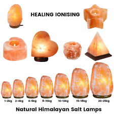 Himalayan Natural Salt Lamp Crystal Pink Salt Lamp Healing Ionising All Sizes