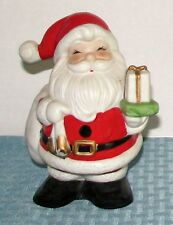 "Vintage Homco 6"" Santa Claus Holding Presents Bank Orig Tight Plug 5212 - Exc"