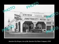 OLD LARGE HISTORIC PHOTO OF JUNCTION CITY OREGON THE J/C MOTOR COMPANY c1930