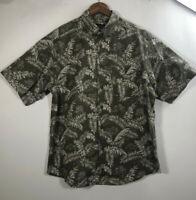 Woolrich Men's Size L Olive Hawaiian Jeep Short Sleeve Button Up Shirt John Rich