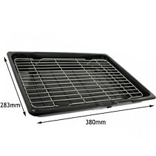 HOTPOINT-ARISTON Genuine Oven Cooker Complete Grill Pan Tray 380x283x65mm Black