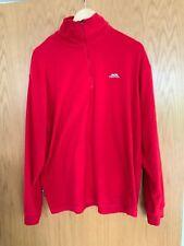 Mens Trespass Half Zip Fleece Red Size Large