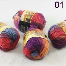 New Sale 4SkeinsX50gr Rainbows Coarse Hand Knit Wool Yarn Warm Shawl Scarves 01