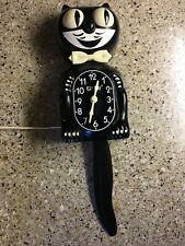 80's Vintage Electric KIT CAT KLOCK Runs Great Animated Eyes & Tail