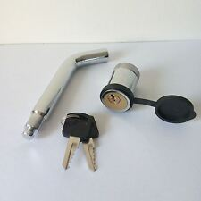 """Locking Hitch Pin 5/8"""" with Keys and Cover Boat Truck Trailer Receiver Security"""