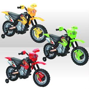 NEW KIDS RIDE ON MOTORBIKE MOTOCROSS SCRAMBLER ELECTRIC 6V BATTERY CAR BIKE