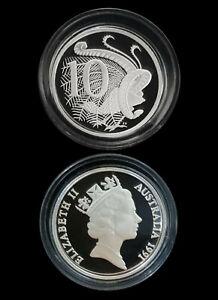 1991 Australia 10c 99.99% Silver Proof Masterpiece Coin New Sealed RARE Beautful
