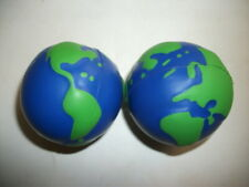 LOT OF 2 UNIQUE EARTH SHAPED STRESS RELIEF RELAXATION SQUEEZIE TOY GIFT