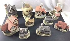 Lot of 10 British Traditions by David Winter English Village Cottage Display
