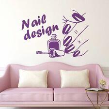 Nails Art Polish Design Salon Wall Window Sticker Beauty Studio Decor Vinyl Deca