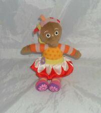 "In The Night Garden Upsy Daisy Soft Plush Toy with key ring clip 7"" Hasbro 2008"