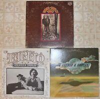 Brewer & Shipley, 3 Vinyl Record Lot, All LP & US 1st Press, Folk Country Rock