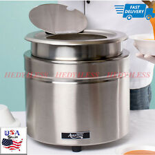 11 Qt. Stainless Steel Countertop Soup Kettle Warmer - 120V, 800W Fast shipping