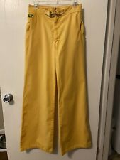 New listing Rare Htr Vintage Turtle Bax Yellow Bell Bottom Pants/Jeans Size11/12