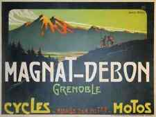 Metal sign MAGNAT DEBON Cycles Motos Grenoble farcin A4 12X8 Aluminium