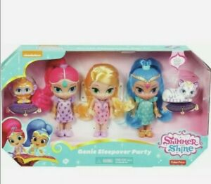 Nickelodeon Shimmer & Shine Genie Sleepover Party Leah, Tala & Naha Dolls New