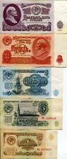 Soviet Set Lot 1961 25 10 5 3 1 Ruble Banknote Lenin Money Communist VF EF