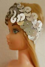 Kopfband Pailletten für vintage Barbie Model Muse Superstar und weitere Puppen
