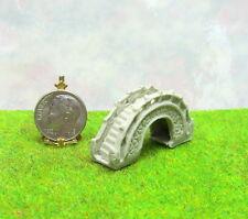 Dollhouse Miniature or Fairy Garden Small Gray Arched Resin Bridge