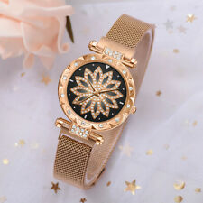 Fashion Women Trend Multi-Petal Diamond Dial Alloy Strap Ladies Quartz Watch HY
