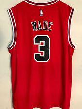67828813ea9 Adidas NBA Jersey Chicago Bulls Dwayne Wade Red sz L