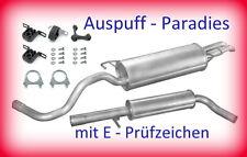 Abgasanlage, Auspuff VW Golf IV 1.4i 16V Variant / Kombi (Typ 1J5) + Anbausatz
