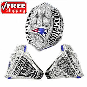 2019 New England Patriots Championship Ring Super Bowl Tom Brady Fan Gift