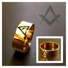 Antique 10K .417 Yellow Gold Master Mason Ring Virtus Junxit Mors Non Separabit