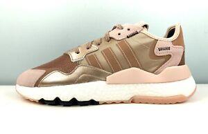 adidas Nite Jogger Boost Metallic Rose Gold Women's Sneakers EE5908 Multi Size