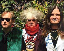 GFA Buzz Osborne x3 Band * THE MELVINS * Signed 8x10 Photo PROOF AD2 COA