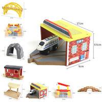 Wooden Toy Train Railway Bridge.Accessories Component Toys Set Practical Present