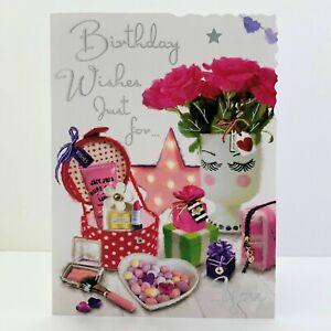 Jonny Javelin Female Birthday Wishes Just For... Card Flowers Presents/V666