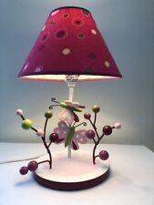 Lambs & Ivy Raspberry Swirl  Baby Nursery Lamp And Shade Nursery Decor