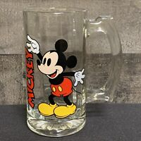 Vintage Mickey Mouse Tall Glass Mug with Handle Root Beer Float 11oz